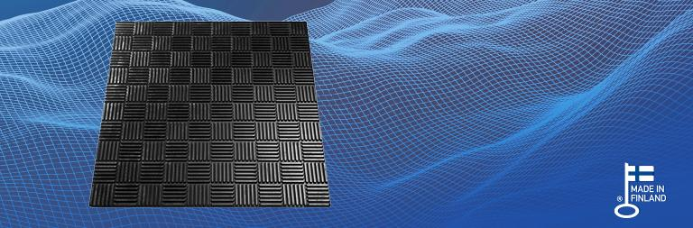 Vibration damping profile Square
