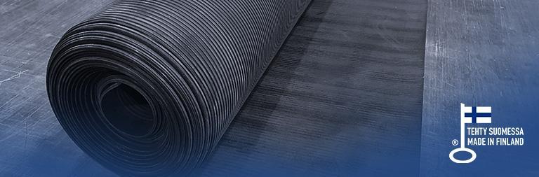 Teknikum Uurrematto Grooved rubber mat