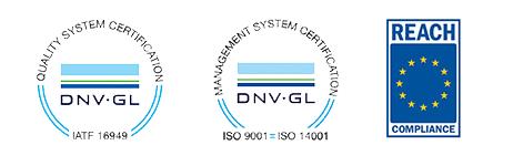 quality logos ISO REACH trans